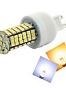 G9 LED Corn Lights T 144 SMD 3528 500-600 lm Warm White Cold White 2800-3500/6000-6500 K AC 220-240 V