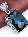 Bărbați / Pentru femei - Cristal, Argilă Modă Pandantiv Albastru Marin Închis Pentru Nuntă / Petrecere / Zilnic