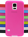 Case For Samsung Galaxy Samsung Galaxy Case Shockproof Back Cover Solid Color Silicone for S5