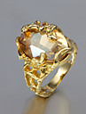 Statement Rings Gold Plated Fashion Golden Jewelry Wedding Party Daily Casual 1pc