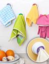 cocina titular de tela toalla gancho autoadhesivo diseñada (color al azar)