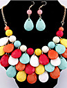 Jewelry Set Vintage Party Bohemian Party Acrylic Alloy Drop Necklace Earrings