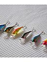 65mm 4.5g Mini  Minnow Hard Bait Fishing Lure Set (6pcs/set)