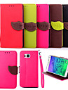 For Samsung Galaxy Case Wallet / Card Holder / with Stand / Flip Case Full Body Case Solid Color PU Leather SamsungTrend Duos / Grand