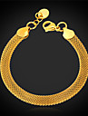 U7® 18K Gold Filled Twisted Figaro Popcorn Link Chain Bracelet for Men Women 5MM 21CM Christmas Gifts