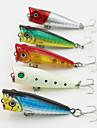 1 штук Воблер-поппер Рыболовная приманка Воблер-поппер Жесткие пластиковые Морское рыболовство Ловля на приманку Пресноводная рыбалка
