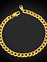 U7® Never Fade Men\'s Link Cuban Chain Bracelet for Men High Quality 316L Titanium Steel 5MM 21CM