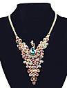 Жен. Синтетический алмаз Ожерелья с подвесками / Заявление ожерелья - Стразы Павлин лакомство, Массивный, европейский Цвет экрана Ожерелье Назначение