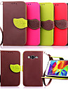 For Samsung Galaxy Case Wallet / Card Holder / with Stand / Flip Case Full Body Case Solid Color PU Leather SamsungYoung 2 / Core Prime /