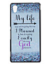 For Sony Case Pattern Case Back Cover Case Word / Phrase Hard PC for Sony Sony Xperia M4 Aqua