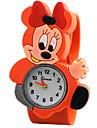 Дети Модные часы Повседневные часы Кварцевый силиконовый Группа Красный Оранжевый Зеленый Розовый ЖелтыйЖелтый Розовый Красный Зеленый