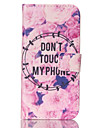 For Samsung Galaxy Case Card Holder / Wallet / with Stand / Flip Case Full Body Case Word / Phrase PU Leather SamsungS6 edge / S6 / S5