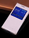 용 삼성 갤럭시 케이스 윈도우 / 자동 슬립/웨이크 기능 / 플립 케이스 풀 바디 케이스 단색 인조 가죽 Samsung Core Prime