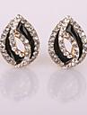 New Fashion Bud Diamond  Clip Earrings Wedding/Party/Daily/Casual 2pcs