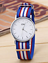 Men's New Simple Cloth Ribbon Between Digital Disc Tape China Watch Movement(Assorted Colors)
