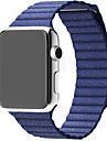시계 밴드 용 Apple Watch Series 3 / 2 / 1 Apple 손목 스트랩 가죽 루프