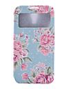 Para Samsung Galaxy Capinhas Porta-Cartao / Carteira / Com Suporte / com Visor / Flip Capinha Corpo Inteiro Capinha Flor Couro PU Samsung