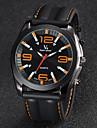 V6 Homme Montre Bracelet Quartz Quartz Japonais Silikon Bande Noir