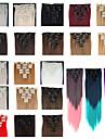 Расширения человеческих волос Прямой Классика Искусственные волосы Накладки из натуральных волос Жен. # 627