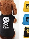 Cat Dog Shirt / T-Shirt Outfits Dog Clothes Cute Casual/Daily Skulls Black Yellow Blue Black/Yellow Costume For Pets