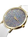 Жен. Модные часы Кварцевый Имитация Алмазный PU Группа Черный Белый