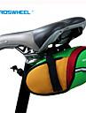 ROSWHEEL® Bolsa de Bicicleta 0.8LBolsa para Bagageiro de BicicletaÁ Prova-de-Água / Zíper á Prova-de-Água / Camurça de Vaca á