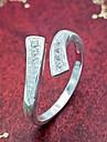 반지 결혼식 / 파티 / 일상 / 캐쥬얼 보석류 은 도금 여성 문자 반지 1PC,조절가능 실버