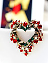 Heart Wreath Christmas Brooch
