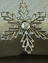 12 Pcs/Set 1.77 Inch Metal Snowflake Napkin Ring Tableware Table Storage
