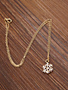 Women's Snowflake Chrismas Pendant Necklace Enamel Alloy Pendant Necklace , Wedding Party Daily Casual Sports