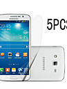 5Pcs High Transparency LCD Crystal Clear Screen Protector with Cleaning Cloth for Samsung GALAXY Grand prime G530