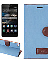 Case For Huawei P8 Other Huawei Huawei Mate 7 P8 Huawei Case Card Holder with Stand Flip Full Body Cases Solid Color Hard PU Leather for
