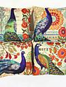 4.0 pcs Lin Taie d\'oreiller, Motif Animal Imprimes Photos Nature Euro Decoratif Traditionnel/Classique Bureau / Affaires