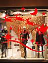 Животное Современный Стикер на окна материал окно Украшение Столовая Спальня Офис Детская Для гостиной Ванная комната Магазин / Кафе Для