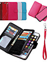 2 in 1 Detachable PU Leather Magnetic Flip Phone Cases and Back Cover with Wallet 9 Card Slot for iPhone 6S 4.7 inch