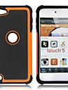 double en plastique amovible et etui en silicone pour iPod touch 5 (couleurs assorties)