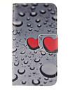 Pour Samsung Galaxy Coque Porte Carte Portefeuille Avec Support Clapet Coque Coque Integrale Coque Coeur Cuir PU pour Samsung Grand Prime