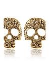 Stud Earrings Alloy Fashion Skull / Skeleton Silver Brown Jewelry 2pcs