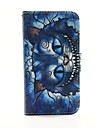 Blue Cat Pattern PU Leather Phone Case for Samsung Galaxy S3 9300/S4 9500 /S5 9600