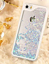 For iPhone 5 Case Flowing Liquid / Transparent Case Back Cover Case Glitter Shine Hard PC iPhone SE/5s/5