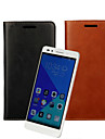 Case For Huawei Honor 7 Huawei Huawei Case Card Holder Wallet with Stand Flip Full Body Cases Solid Color Hard PU Leather for Huawei