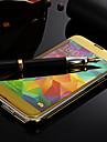 Кейс для Назначение SSamsung Galaxy Кейс для  Samsung Galaxy Зеркальная поверхность Чехол Сплошной цвет ПК для S5