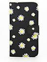 Кейс для Назначение SSamsung Galaxy Кейс для  Samsung Galaxy Бумажник для карт Кошелек со стендом Флип Чехол Цветы Кожа PU для S6 edge