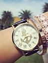 Women\'s Fashion Watch Bracelet Watch Quartz Chronograph PU Band Analog Charm Black / White / Blue - Brown Blue Pink