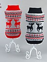 Cat Dog Sweater Dog Clothes Christmas New Year\'s Reindeer Black Red Costume For Pets