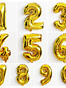 10pcs Large Gold Number 0-9 Balloons New Year Christmas Party Wedding Decoration Balloon
