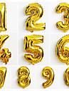 10шт большой золотой номер 0-9 шары новый год Christmas Party украшение свадьбы шар