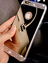 Case For Apple iPhone 8 iPhone 8 Plus iPhone 6 iPhone 6 Plus iPhone 7 Plus iPhone 7 Rhinestone Mirror Back Cover Solid Color Soft TPU for