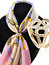 Fashion Inlay Diamond Three Rings Scarf Buckle