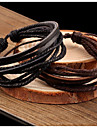 Women\'s Leather Bracelet Wrap Bracelet Vintage Casual Basic Plaited Multi Layer Handmade Leather Jewelry Jewelry Party Daily Casual